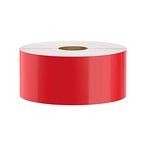 Premium Vinyl Label Tape for DuraLabel, LabelTac, SafetyPro and Others, Red, 2