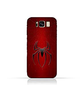 Samsung Galaxy S8 TPU Silicone Protective Case with Spider Man Logo Design