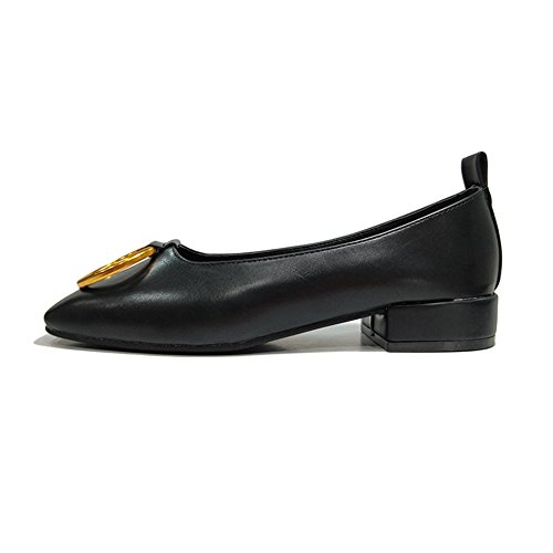 Womens Loafers Shoes Official Slip On Square Toe Low Heel Moccasins Modern Comfy Penny Black