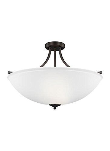 - Sea Gull Lighting 7716504EN3-710 Large Four Light Semi-Flush Convertible Pendant, Burnt Sienna