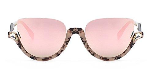 Jeweled Sunglasses Semi Cat Eye Glasses for Women Plastic Half Rim Frame (Tortoise Black/pink, - Shell Rim Half Tortoise Glasses