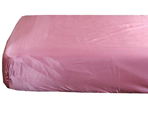 - Plum Pink Cloud Satin Fitted Crib Sheet - Fits Standard Crib Mattresses and Daybeds