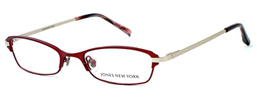 Jones New York Womens Lightweight & Comfortable Designer Reading Glasses J468 in Red +1.00 (Comfortable Glasses Reading)