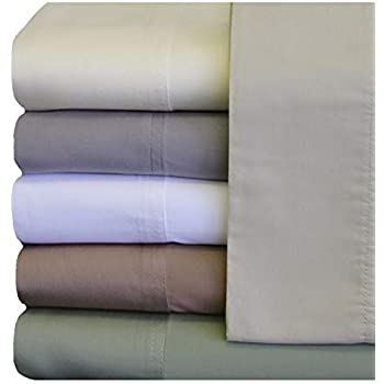 ABRIPEDIC TENCEL SHEETS, Silky Soft and Naturally Pure Fabric, 100% Woven Tencel Lyocell Sheet Set, 5PC Set, Split-King Size, Taupe