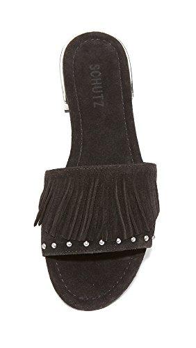 Zilu Black SCHUTZ Slide Women Sandal 4xF5Y