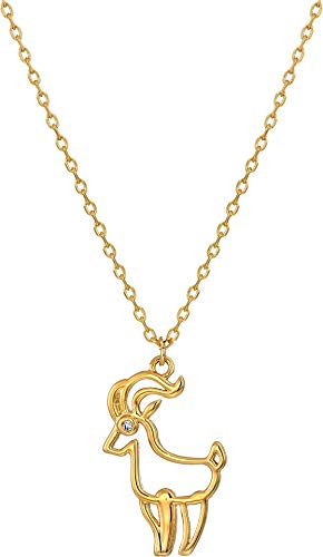 Kate Spade New York Women's Celestial Charm Capricorn Pendant Necklace Clear/Gold One Size ()