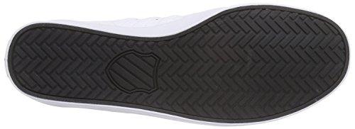 K-SwissBELMONT - Scarpe da Ginnastica Basse Uomo Bianco (Weiß (Wht/Blk/Ultramrn/Grn 189))