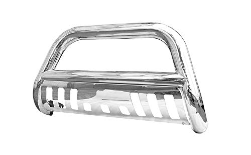 (Span Bull Bar Skid Plate Front Push Bumper Grille Guard Stainless Steel Chrome for 2011-2016 Ford F250-F350-F450-F550 Super Duty Pickup)