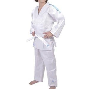 adidas Kimono Judo jeunes (ceinture comprise), blanc