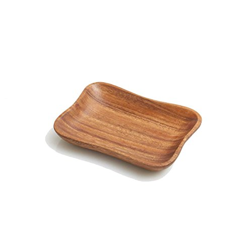 Woodard & Charles Acacia Small Pinched Serving Tray, 7.5