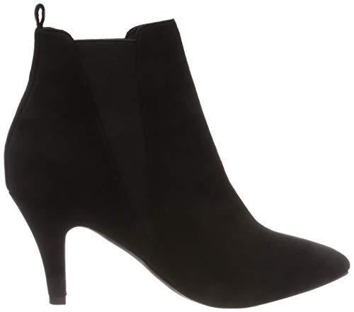 101 Femme Bianco Bottines Heel Low black Schwarz Chelsea FpArA0BcP