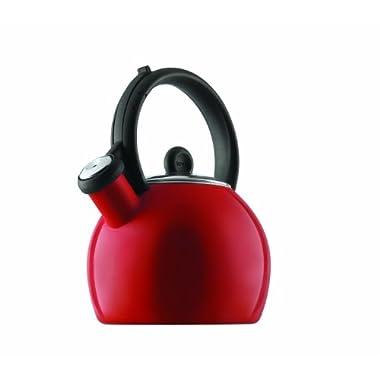 Copco Vienna 1-1/2-Quart Enamel on Steel Tea Kettle, Red