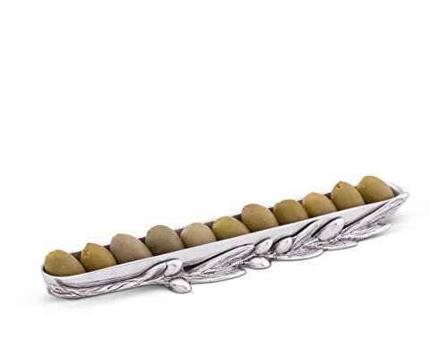 Arthur Court Sand-Cast Aluminum Olive Canoe; 10