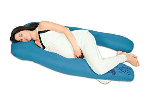 Almohada de embarazo y lactancia'Herradura' (Relleno Importado) - Cojín maternidad (Azul Turquesa)