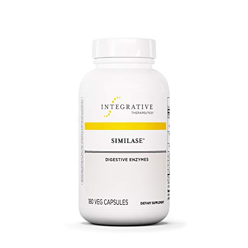 - Integrative Therapeutics - Similase - Physician Developed Digestive Enzymes for Women and Men - Relieves Occasional Gas and Bloating - Vegan - 180 Vegetable Capsules