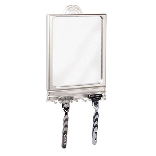 mDesign Large Modern Plastic Suction Shaving Mirror...