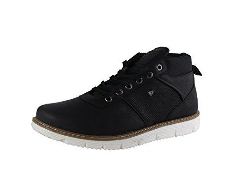 Herren Schuhe - Freizeitschuhe - High Sneaker - mit farbiger Naht - Survival Black Red / White - verschiedene Farben Schwarz / Weiß