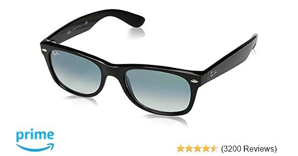 3a329a1b20b1 Amazon.com: Ray-Ban Men's New Wayfarer Square Sunglasses, Black, 51 mm:  Clothing