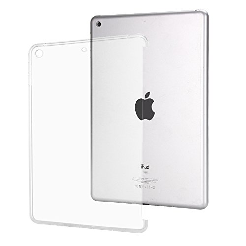 iPad 2017 9.7 Inch Case,Mektron Flexible Transparent Soft TPU Rubber Back Cover for Apple New iPad 9.7 Inch (2017 Release, Compatible with Smart Cover and Keyboard),Crystal ()