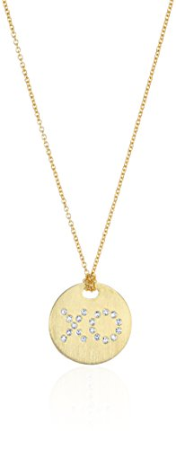 Roberto Coin 18K Yellow Pave Diamond XO Disc Necklace (Diamond / Roberto Coin 18k Necklace)