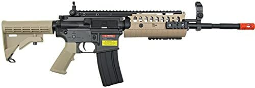 jg full metal gearbox desert tan aeg w integrated rail and high performance tight bore barrel – newest enhanced model Airsoft Gun