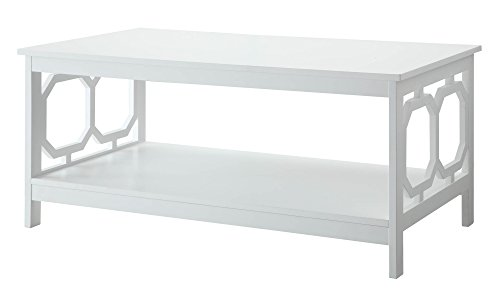 Convenience Concepts Omega Coffee Table, White Noticeable