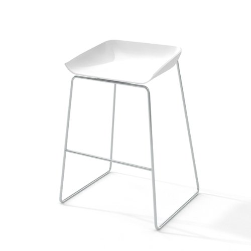 (Steelcase Turnstone TS30701 Scoop Stool with Seat, White)