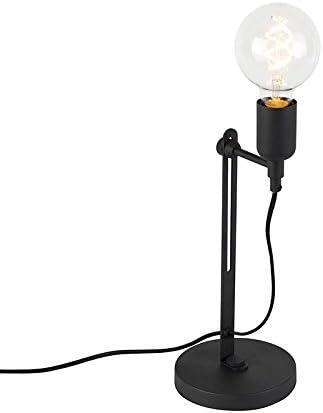 QAZQA Industrial Lámpara de mesa industrial negra - Slide Metálica ...