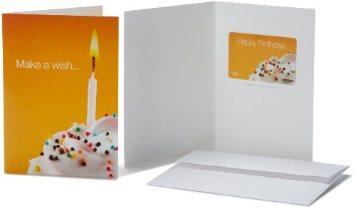 Amazon.com $50 Gift Card in a Greeting Card (Birthday Wish Card (Wish Gift Card)