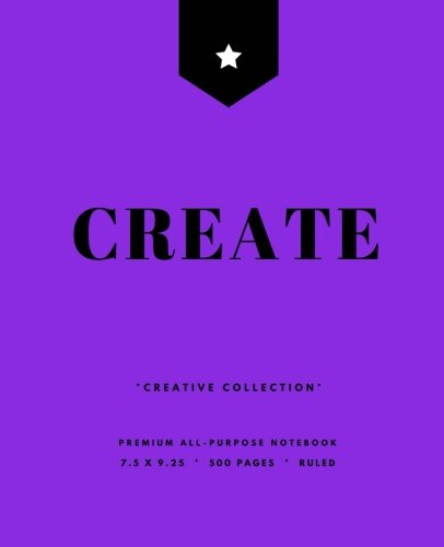 Download Create: Writer's Notebook, 500 Pages, Softcover, Bright Purple (7.5 x 9.25 in.) (Creative Collection) ebook