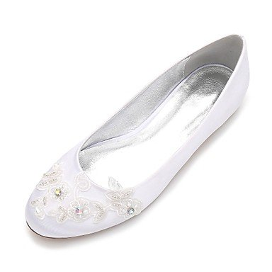 Dress Ruby amp;Amp; Rhinestone Wedding Summer EU41 Evening 10 Shoes Comfort 5 Party Spring Wedding Champagne 5 RTRY Flat Women'S 8 UK7 Bowknot US9 Heelivory CN42 Satin Blue xqzwPYU7