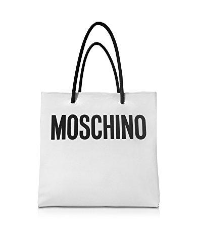 MOSCHINO FEMME 74148001A1001 BLANC CUIR SAC TOTE