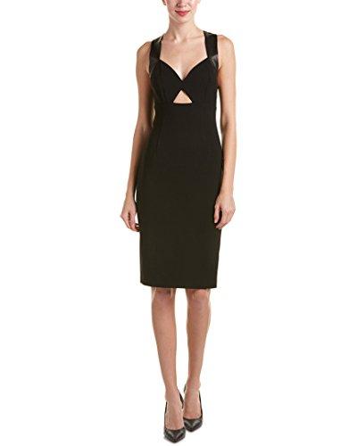 alice and olivia black leather dress - 2