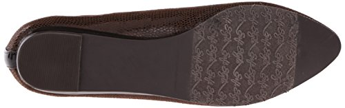 por Suave Dillian Dark Brown Estilo Hush Puppies Lizard Flat Ballet AAW5rFnR