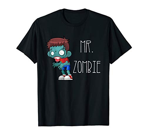 Mr. Zombie. Halloween t-shirt for couples. Mr and Mrs shirt -