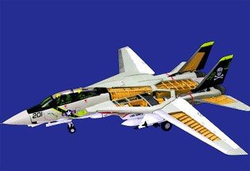 F-14 Tomcat Jolly Rogers (4D Vision F-14A Tom Cat Fighter Jet Model)
