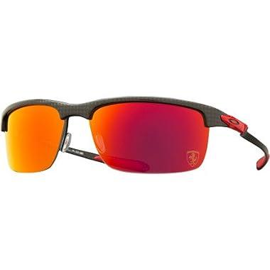 c9b82c49bc Oakley Mens Ferrari Carbon Blade Sunglasses