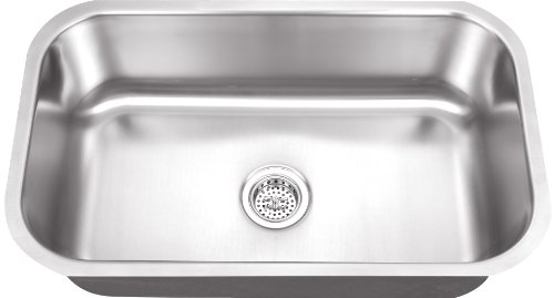 All-in-One Undermount Stainless Steel 30 in. 0-Hole Single B