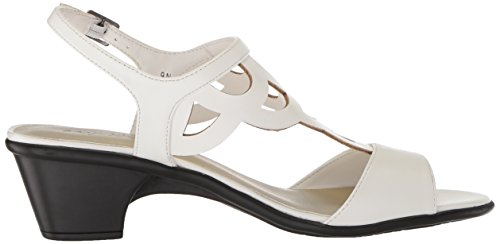 Easy Street Womens Outshine Sandalo Con Tacco Bianco
