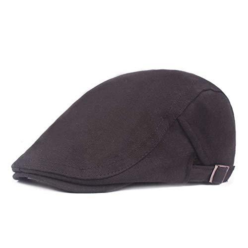 QXU-DIMDIM Beret Men and Women Woolen Duck Tongue hat Wholesale Literary Retro Baseball Cap Visor Casual Forward hat (Color : Black)