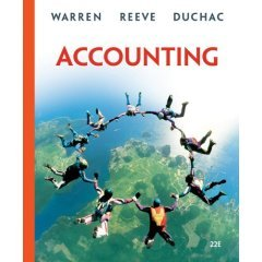 Accounting Textbook official Title is : Accounting (Hardcover)by Carl S. Warren (Author), James M. Reeve (Author), Jonathan Duchac (Author) Published by South-Western College (ACCOUNTING TEXTBOOK FOR COLLEGE AND UNIVERSITY STUDENTS)