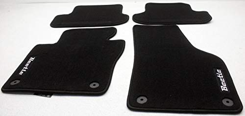 Carpet Volkswagen Beetle (OEM VW Beetle All Carpet Floor Mats 5C1-061-370-A-FBN Black & Black)