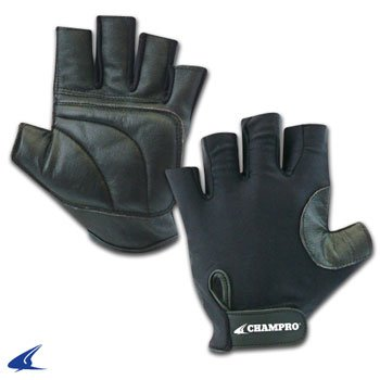 Worth Catchers Glove - Champro Padded Catcher's Glove (Black, One size fits all)
