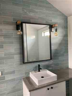 Buy Alfa Design Square Modern Wall Mirror Decorative Design Frameless Mirror Venetian Wall Mirror Wood Core Backing 17mm Mdf Mirror Size 20 X 20 Inch Black Online At Low Prices In