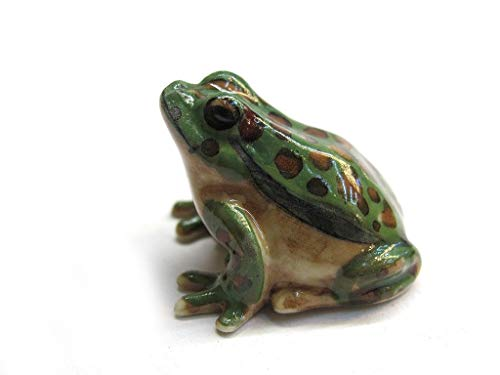 Dollhouse Miniatures Ceramic Dot Green frog FIGURINE Animals Decor