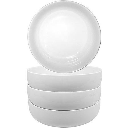 Better Homes and Gardens Set of 4 Porcelain Round White Coupe - White Coupe
