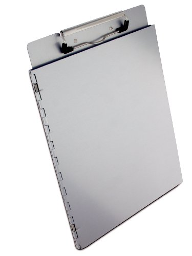 Saunders Recycled Aluminum Portfolio Clipboard – Letter Size File Holder with Privacy Cover. School - Antimicrobial Clipboard Recycled Aluminum