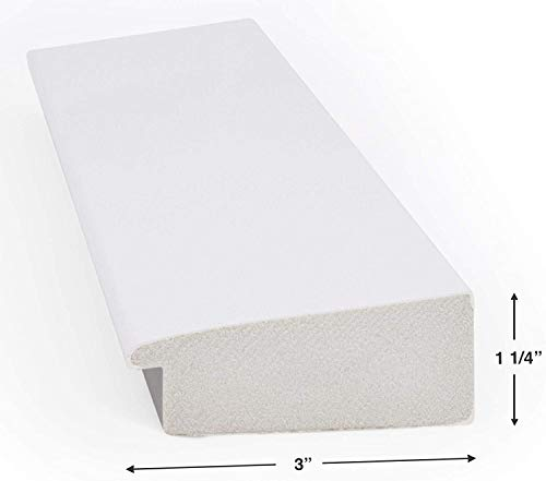 """Deco TV Frames - Gloss White Frame Custom for Any Size Samsung The Frame TV (50"""")"""