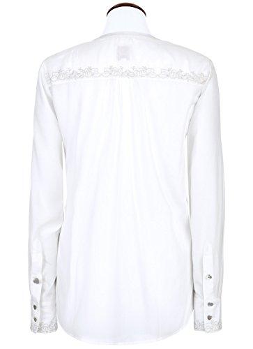 Spieth & Wensky–Blusa Trachten–Cuello a u–Manga Larga–para mujer Bianco