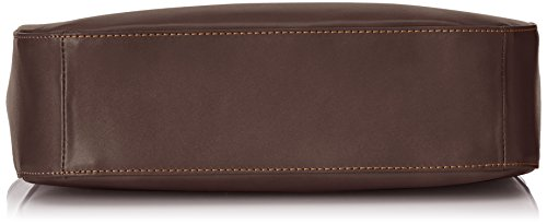 élégant 34x23x10cm main véritable bandoulière cuir Marrone à Donna Borsa in Marron 100 Made Italy CTM sac Scuro qx0RBY